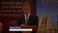 London INT Mark Carney speech SOT Once monetary policy normalisation begins interest rates would proceed slowly decision as to when to start such a...