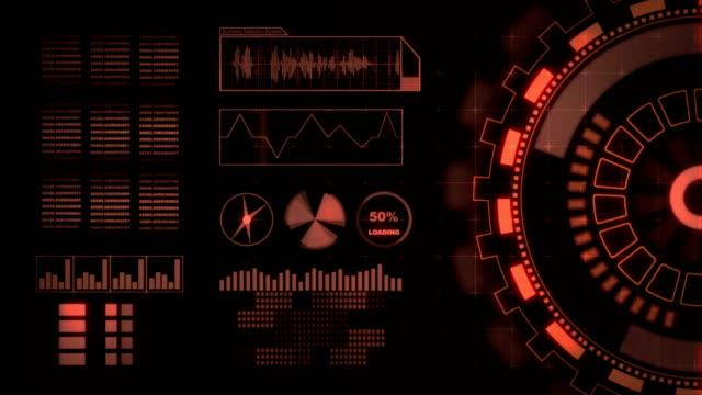 Head up Display Bewegung Hintergrund-Schnittstelle