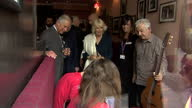 Interior and exterior shots of Prince Charles and Camilla Duchess of Cornwall meeting a group of musicians from the Prince's Trust during a visit to...