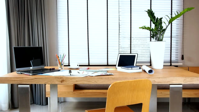 Interior design of creative working table