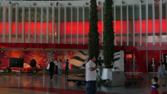 Interior entrance of Ferrari World Abu Dhabi, Yas Island, Abu Dhabi, United Arab Emirates, Middle East, Asia