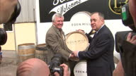 Interior Exterior shots of Alex Salmond campaigning at Eden Mill brewery distillery on September 2 2014 in Fife Scotland