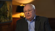 Interior interview Mikhail Gorbachev Former Soviet Leader Former Soviet Leader Mikhail Gorbachev has told Sky News that he doesn't think Vladimir...