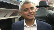 Interior interview Sadiq Khan London Mayor talks about who the weekend night tube service will benefit its effect on the economy and opening more...
