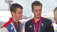 Interior interview Team GB's Gold Bronze medal winning men's triathletes Johnathan Alistair Brownlee Jonathan Alistair Brownlee on Triathlon Success...
