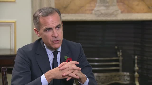 Interior interview with Bank of England Governor Mark Carney speaking about adjusting monetary policy as the economy changes and what impact Brexit...