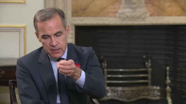 Interior interview with Bank of England Governor Mark Carney speaking about the importance of addressing the issues of sexual harassment and...