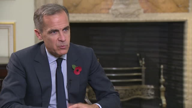 Interior interview with Bank of England Governor Mark Carney speaking about the uncertainty around Brexit and how this is affecting the UK economy...