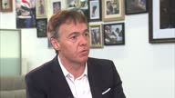 Interior interview with BSkyB Chief Executive Jeremy Darroch on the takeover of Sky Deutschland and Sky Italia on November 13 2014 in London England
