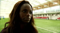 interior interview with Footballer Eniola Aluko about meeting Prince William and the upcoming FIFA Women's World Cup at St Georges Park on May 20...