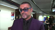 Interior interview with George Michael about his concert at the Royal Albert Hall and recovery from pneumonia on September 29 2012 in London England