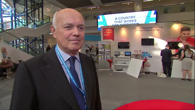 Interior interview with Iain Duncan Smith MP on the meaning of Brexit on October 02 2016 in Birmingham England