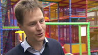Interior interview with Liberal Democrat leader Nick Clegg whilst on a campaigning visit to East Dunbartonshire on April 01 2015 in Glasgow Scotland