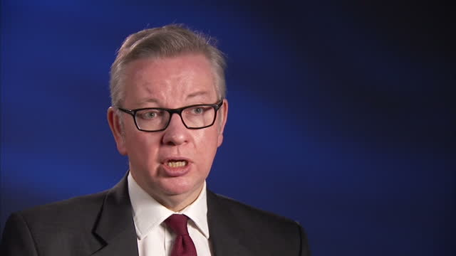 Interior interview with Michael Gove MP on his interview with Donald Trump on January 16 2017 in London United Kingdom