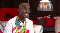 Interior interview with Mo Farah Team GB Distance Runner and Rio 2016 Double Gold Medalist talking about winning Gold in the 10000 and 5000 meter...