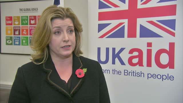Interior interview with Penny Mordaunt speaking briefly about being 'delighted' at her appointment as the new International Development Secretary and...