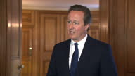 Interior interview with Prime Minister David Cameron on the anniversary of VJ Day and the government's plans for academy schools on August 15 2015 in...