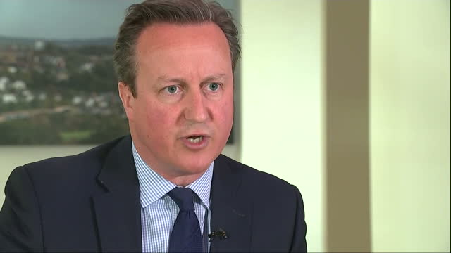 Interior interview with Prime Minister David Cameron speaking about having sold his shares in Blairmore Holdings the offshore investment fund set up...