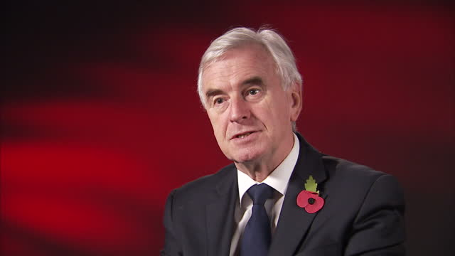 Interior interview with Shadow Chancellor John McDonnell speaking about his reaction to the resignation of Defence Secretary Sir Michael Fallon and...