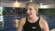 Interior interview with swimmer Rebecca Adlington on swimming suis and the progression of the sport on December 03 2009 in Nottingham United Kingdom