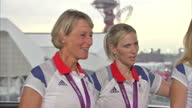 Interior interview with Team GB's Silver medal winning Equestrian team which includes Zara Philips William FoxPitt Mary King Nicola Wilson Team GB's...