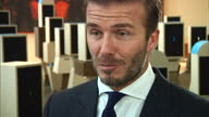 Interior interview with UNICEF Goodwill Ambassador David Beckham on his charity work in the Philippines and the Syrian migrant crisis on September 24...