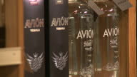 Interior KD Wines Spirits wine of display R/F Side Angle of Avion Tequila Multiple shots ZI/ZO Avion on store shelf