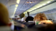 Interior of a crowded Aeroplane. HD
