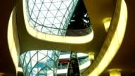 Interior Of A Futuristic Shopping Mall (4K/UHD to HD)