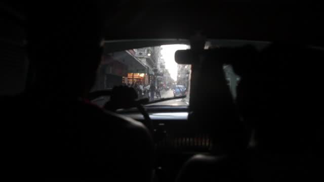 Interior of a taxi in Cuba