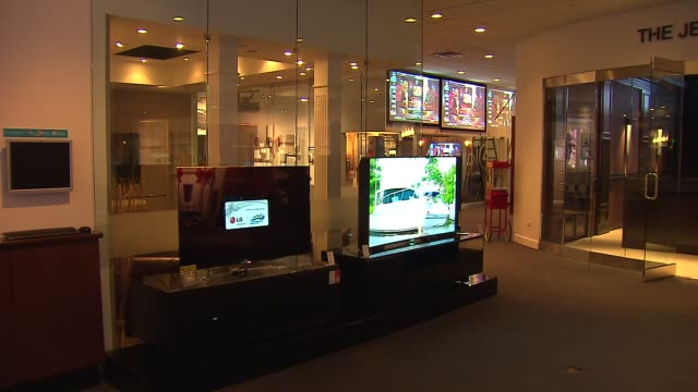 Interior Of Abt Electronics Store Flat Screen TVs On Display In Electronics Store on December 12 2013 in Chicago Illinois