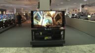 Interior Of Abt Electronics Store Home Theatre Area Of Electronics Store on December 12 2013 in Chicago Illinois