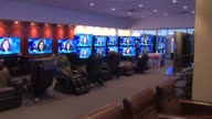 Interior Of Abt Electronics Store Reclining Chairs And TV Displays In Store on December 12 2013 in Chicago Illinois