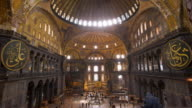MS T/L Interior of Aya Sofya with its great dome / Istanbul, Turkey