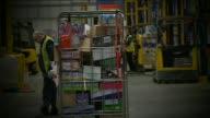 Interior of busy Dagenham Tesco distribution centre