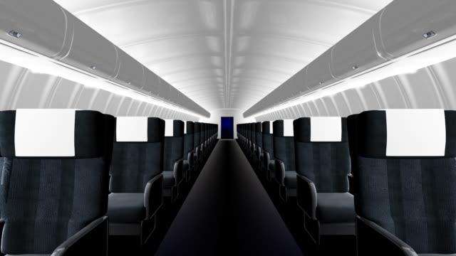 Innenansicht des kommerziellen airliner