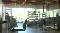 Interior Of Hair Salon on September 21 2011 in San Diego California