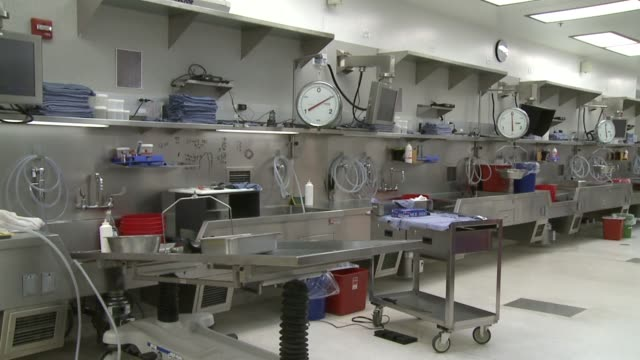 Interior Of Medical Examiner's Lab on May 16 2011 in San Diego California