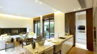 interior of modern dining room  4k