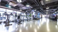 interior of modern gym. timelapse 4k