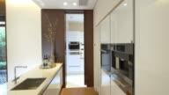 interior of modern kitchen  4k
