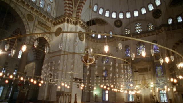 CU MS Interior of Suleymanie Mosque / Istanbul, Turkey