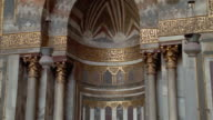 MS, TU, Interior of Sultan Hassan Mosque, Cairo, Egypt