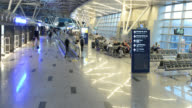 T/L ZO WS Interior of the Vnukovo Airport in Moscow, Russia
