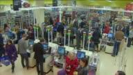 Interior scenes of a busy Tesco supermarket