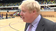 Interior shot Boris Johnson talking about the positive nature of the Invictus Games on March 06 2014 in London England