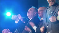 interior shots Alex Salmond leading SNP supporters clapping at Yes campaign launch Interior speech Alex Salmond Scotland's First Minister Interior...