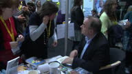 Interior shots Alex Salmond MP former SNP Leader signing copies of his book at SNP 2015 party conference on October 17 2015 in Aberdeen Scotland