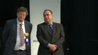 Interior shots Alex Salmond MSP being announced as winner at the Aberdeen count walks to the podium Alex Salmond wins in Aberdeen on May 06 2011 in...