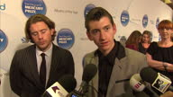 Interior shots Alex Turner talks on Mercury awards red carpet about being compared to artists from different genres Mercury Prize Awards Red Carpet...
